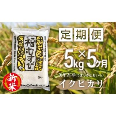 1281 【定期便】令和2年産米「美里吾平(うましさとあいら)イクヒカリ」5kg(1袋)×5ヶ月