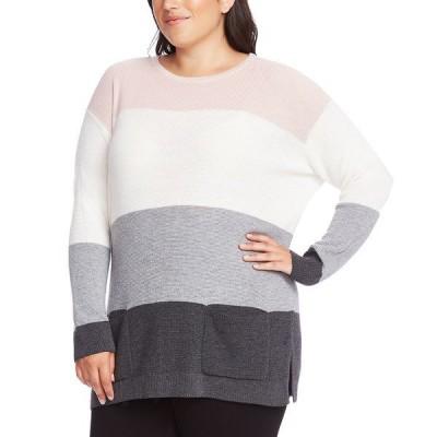 ヴィンスカムート ニット&セーター アウター レディース Plus Size Colorblocked Sweater Soft Pink