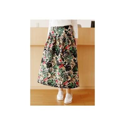 WINTER SALE 1/19〜 B7(ベーセッツ)ボタニカル パターン フレアースカート