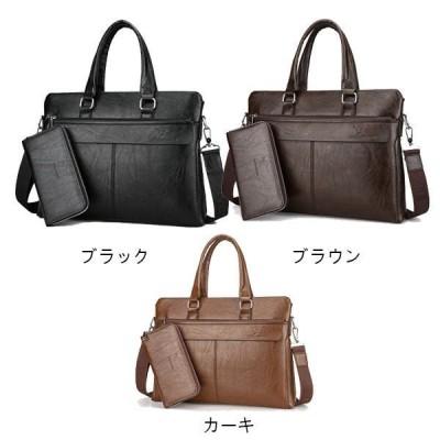 ショルダーバッグメンズカバンビジネスバッグ紳士鞄財布付きブランドFENGBAODAISHUPUレザーリクルートバッグPC対応就職活動