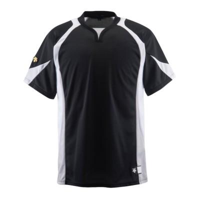 【デサント】 ベースボールシャツ メンズ ブラック系 140 DESCENTE