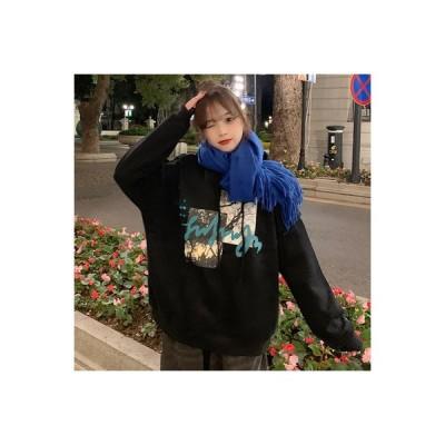 【送料無料】~ 冬 裏起毛 暖かい プリント フード付きセーター アウターウェア 女 | 346770_A64478-9425118