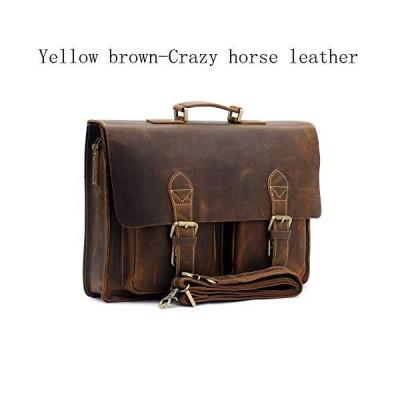 CHUNNONG Backpack Men's Retro Briefcase Diagonal Crossbody Bag, Shoulder Bag Laptop Bag Office Handbag Briefcase (Color : Crazy Horse Brown
