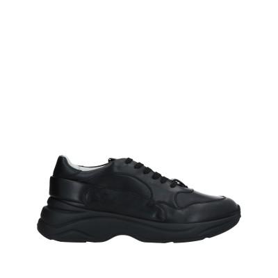 SANTONI スニーカー&テニスシューズ(ローカット) ブラック 6 革 スニーカー&テニスシューズ(ローカット)