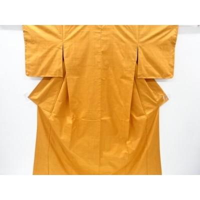 宗sou 格子織り出し手織り節紬着物【リサイクル】【着】