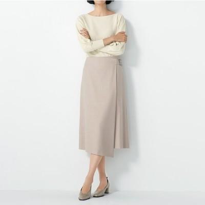 セールアイテム ファッション スカート ウール混 ラップ風 スカート PC9142