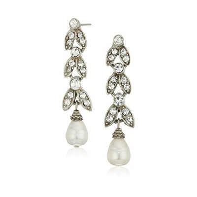 Ben-Amun Jewelry Pearl and Crystal Deco Marquise Swarovski Cut Drop Ea
