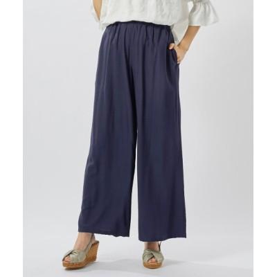 【大きいサイズ】 9分丈ゆるワイドパンツ(オトナスマイル) パンツ, plus size pants
