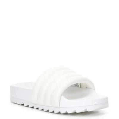 スティーブ マデン レディース サンダル シューズ Canny Banded Pool Slides White
