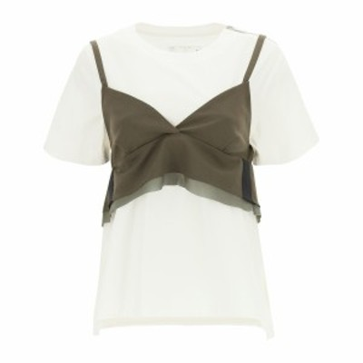 SACAI/サカイ Mixed colours Sacai t-shirt with wool blend top レディース 春夏2021 21 05397 ik