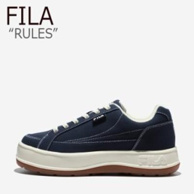 フィラ スニーカー FILA メンズ レディース RULES ルールズ NAVY ネイビー WHITE ホワイト 1TM01565D-422 シューズ