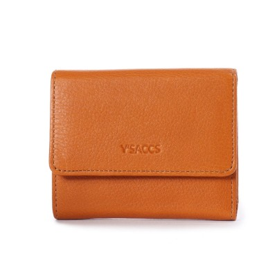 イザック YSACCS 三つ折りミニ財布 (キャメル)