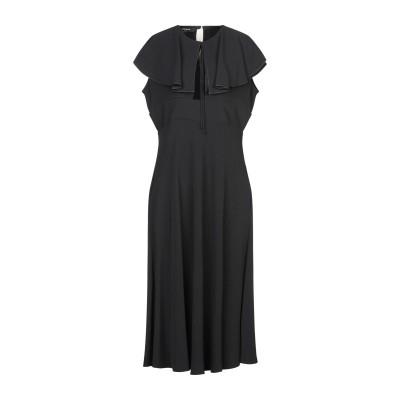 ロシャス ROCHAS 7分丈ワンピース・ドレス ブラック 46 レーヨン 95% / ポリウレタン 5% 7分丈ワンピース・ドレス