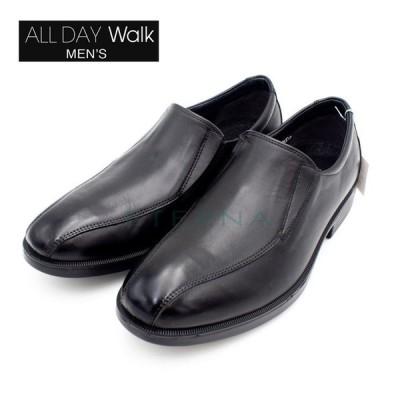 ALL DAY Walk オールデイウォーク メンズビジネスシューズ スーツ スリッポン 痛くない 4E 幅広 防水 ブラック 黒 ADM0070