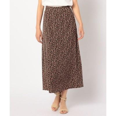 スカート [新色追加]花柄マキシスカート