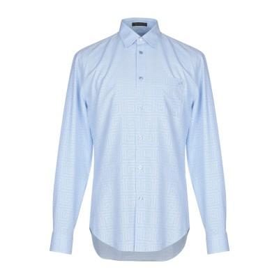 VERSACE シャツ スカイブルー 44 コットン 100% シャツ