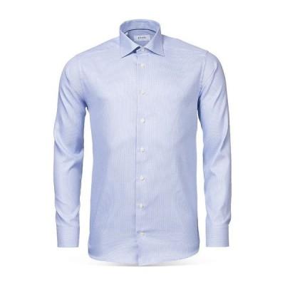 エトン メンズ シャツ トップス Houndstooth Slim Fit Dress Shirt