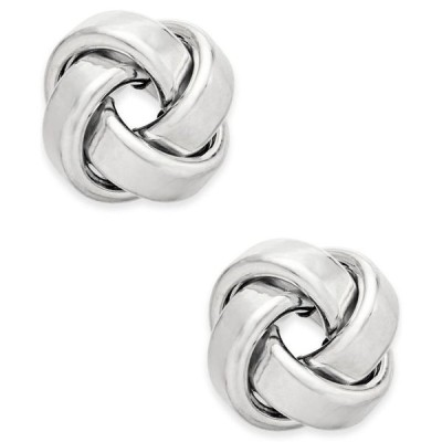 イタリアン ゴールド レディース ピアス・イヤリング アクセサリー Love Knot Stud Earrings in 14k Gold or White Gold