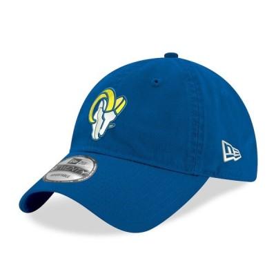 ニューエラ 帽子 アクセサリー メンズ Los Angeles Rams New Era Basic Replica Logo 9TWENTY Adjustable Hat Royal