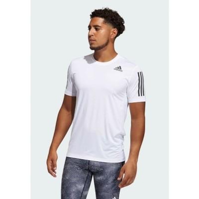 アディダス シャツ メンズ トップス TECHFIT 3-STRIPES FITTED T-SHIRT - Sports shirt - white