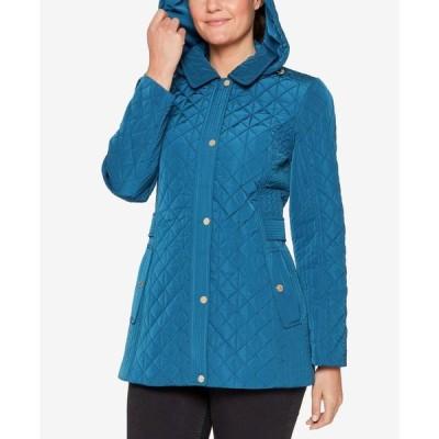 ジョーンズニューヨーク レディース コート アウター Petite Hooded Quilted Coat