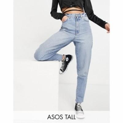 エイソス ASOS Tall レディース ジーンズ・デニム ボーイフレンドデニム Asos Design Tall High Rise Balloon Boyfriend Jeans In Lightw