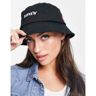 リーバイス レディース 帽子 アクセサリー Levi's vintage logo bucket hat in black 59 regular black