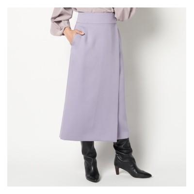 【エリオポール/HELIOPOLE】 HELIOPOLE VIS/PEサテンラップスカート