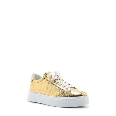シュッツ スニーカー シューズ レディース Raver Platform Sneaker Gold Leather