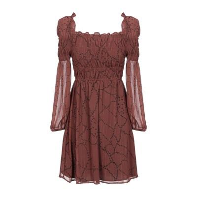 メルシー ..,MERCI ミニワンピース&ドレス ブラウン 40 ポリエステル 100% ミニワンピース&ドレス