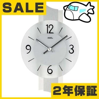 AMS 掛け時計 アナログ シルバー おしゃれ ドイツ製 AMS9394 30%OFF 納期1ヶ月程度 (YM-AMS9394)