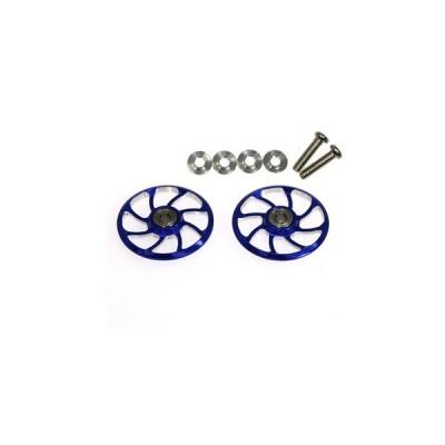 【ネコポス対応】イーグル(EAGLE)/MINI4-RW004-BL/超軽量19mmラウンド8スポークローラーホイルV2:ミニ4用(ブルー)