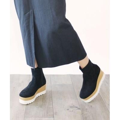 chumchum / Fin/スクエアトゥ厚底ストレッチブーツ WOMEN シューズ > ブーツ
