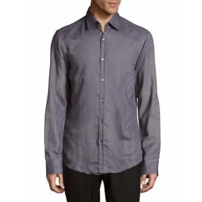 ヒューゴボス メンズ カジュアル ボタンダウンシャツ Simon Cotton Casual Button-Down Shirt