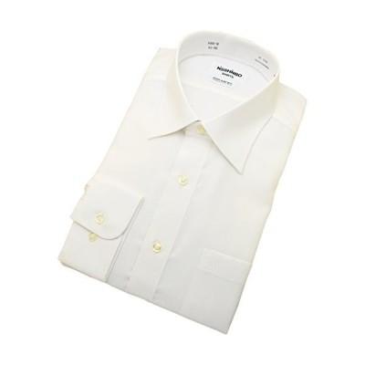 綿100%形態安定「日清紡シャツ」白 セミワイド 41-82