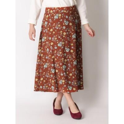 【大きいサイズ】【超割セール中】後ろゴムで楽ちん♪花柄プリントスカート 大きいサイズ スカート レディース