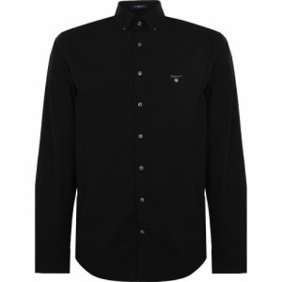 ガント Gant メンズ シャツ トップス Broadcloth Shirt Black