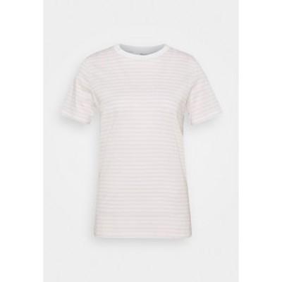 セレクテッドフェム レディース Tシャツ トップス SFMY PERFECT TEE BOX CUT - Print T-shirt - primrose pink/snow white primrose pink