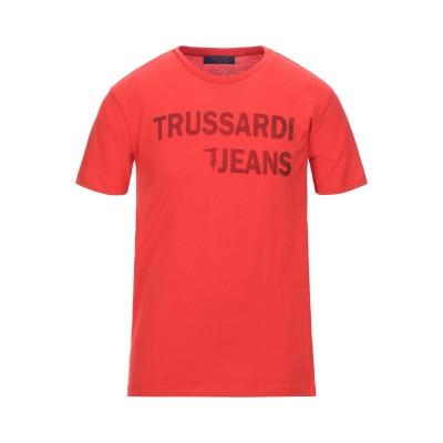 トラサルディ ジーンズ TRUSSARDI JEANS T シャツ レッド XL コットン 100% T シャツ