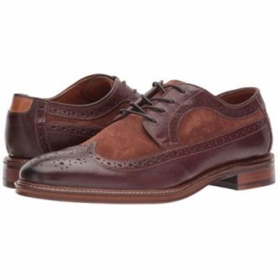 ジョンストン&マーフィー 革靴・ビジネスシューズ Warner Wingtip Mahogany Soft Full Grain/Snuff Suede