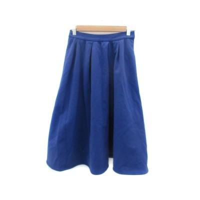 【中古】ルシェルブルー LE CIEL BLEU スカート フレア ミモレ丈 38 ブルー 青 /YM34 レディース 【ベクトル 古着】