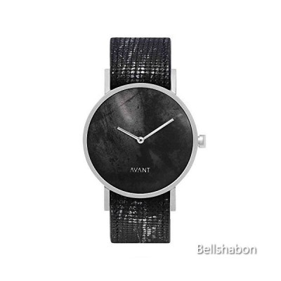 South Lane Stainless Steel Swiss-Quartz Watch with Leather Calfskin Strap, Black, 20 (Model: AW18-93) 並行輸入品