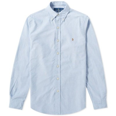 ラルフ ローレン Polo Ralph Lauren メンズ シャツ トップス slim fit button down oxford shirt Blue