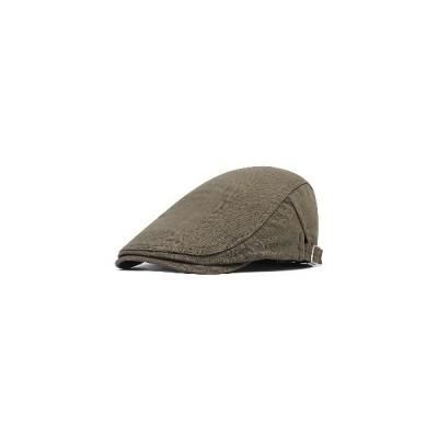 (アーミーグーリン)メンズユニセックスコットンイングランドスタイルペインターベレー帽調整可能な日焼け止めキャスケットキャップ