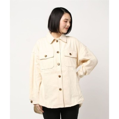シャツ ブラウス カツラギビッグシルエットCPOシャツジャケット