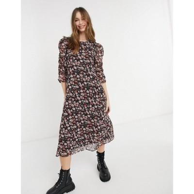 ジェイディーワイ JDY レディース ワンピース ワンピース・ドレス Jdy Midi Dress In Floral Print ピンクフローラル