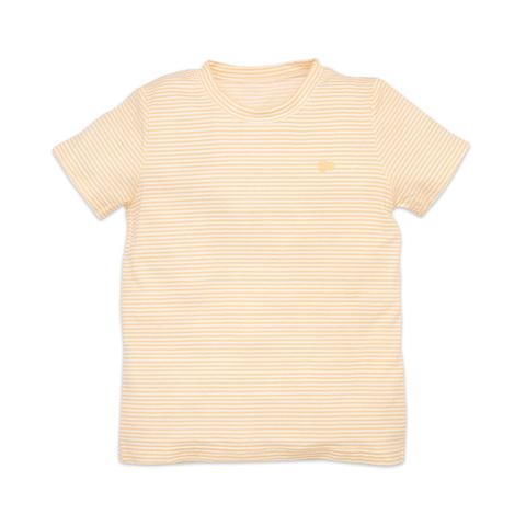 麗嬰房 幼童冰牛奶條紋短袖上衣-橙色 (2號/3號/4號/6號/8號/10號)