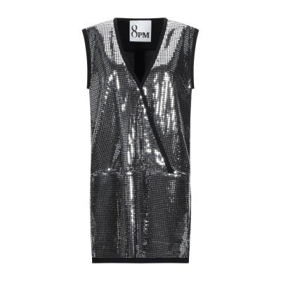 8PM ミニワンピース&ドレス シルバー S ポリエステル 100% / レーヨン ミニワンピース&ドレス