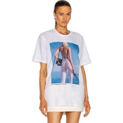 ウォルフォード Wolford レディース Tシャツ トップス x helmut newton t-shirt Ocean Blue