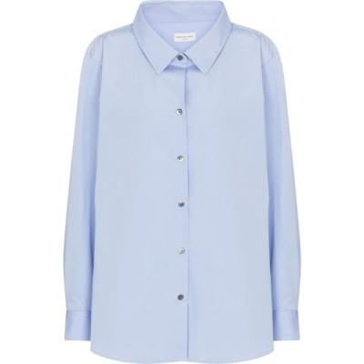 ドリス ヴァン ノッテン Dries Van Noten レディース ブラウス・シャツ トップス cotton poplin shirt Light Blue